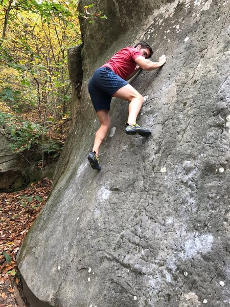 Rock Climbing Photo: Thin and very fun. Bolt hole type features scatter...