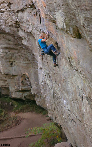 Good holds on the start of <br> Fruit by the Foot (5.12a/b)