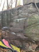 Rock Climbing Photo: I started left hand on the lowest chalked hold in ...