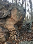 Rock Climbing Photo: Starts on the large hold in the bottom of the phot...