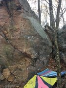 Rock Climbing Photo: I started sitting with my right on the half moon c...