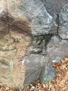 Rock Climbing Photo: This is where I started, right on the half moon, l...