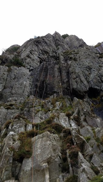 rapping the route with two 60 m ropes