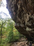 Rock Climbing Photo: Jumping to a good jug before the beginning of the ...