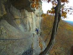 Rock Climbing Photo: P1 Traverse