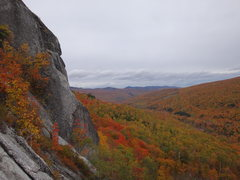 Rock Climbing Photo: A nice autumn view from mid-cliff.