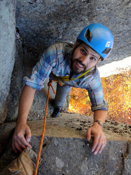 "Rock Climbing Photo: Jeremy Robichaud topping out ""Stem It"" 5..."