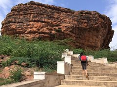 Rock Climbing Photo: Temple area approach