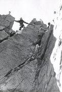 Rock Climbing Photo: John Shirley and crew climbing on Shark Fin. Photo...
