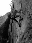Rock Climbing Photo: First pitch of Comander!!!!! Sustained V3!!!