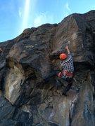 Rock Climbing Photo: Nico pulling the roof