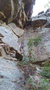 Rock Climbing Photo: Paul Knox following my lead on 9 to 5