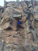 Rock Climbing Photo: Claudio under the roof