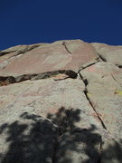 Rock Climbing Photo: Jed B. leads it up on 'Too Much Crack' (10...
