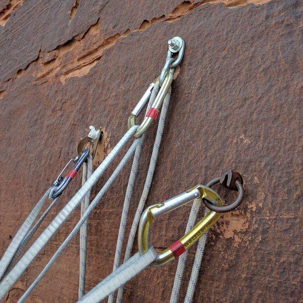 Rock Climbing Photo: Lower rap station