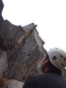"Rock Climbing Photo: Ben Smith, at the belay ledge on top of ""Entr..."