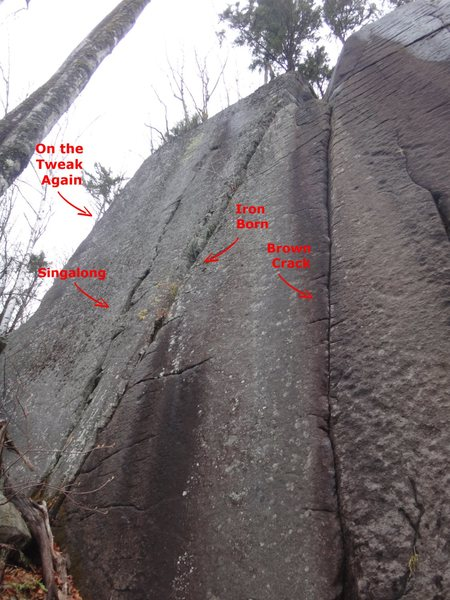 Rock Climbing Photo: Military Wall; Left end.