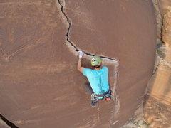 Rock Climbing Photo: Way Rambo 12-, Indian Creek