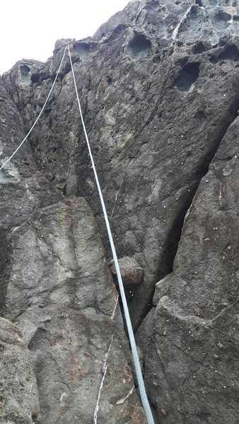 Rock Climbing Photo: Rope it up.