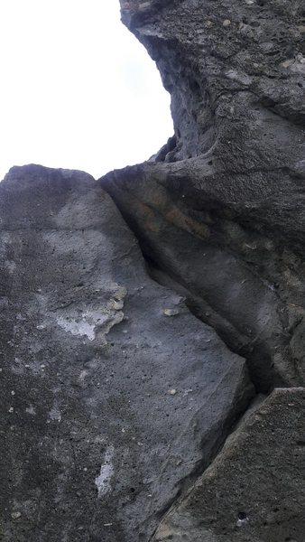 Rock Climbing Photo: Crack it.