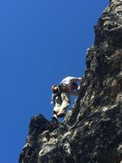 Rock Climbing Photo: Free solo down climbing to clean at land of the lo...