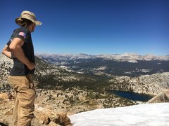 Rock Climbing Photo: Taking in the view after a summit hike at Echo pea...