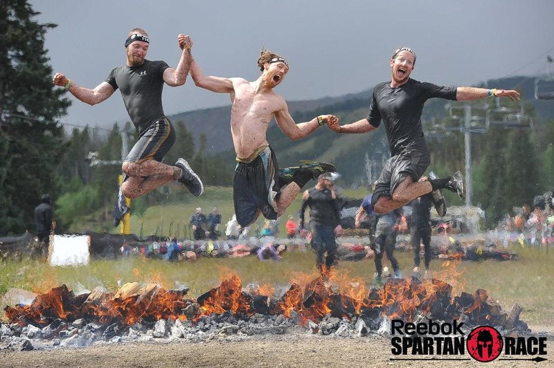Spartan races are fun, this fantastic finish was at Breckenridge