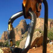 Rock Climbing Photo: Belaying near Castelluzo.