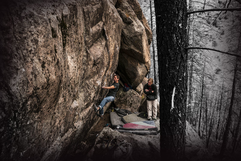 """Rock Climbing Photo: Luis and Nick trying the """"Ledge Project.&quot..."""