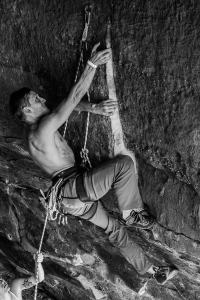 Rock Climbing Photo: The correct sequence. Use your core, trust your ha...