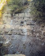 Rock Climbing Photo: Cliffside by a fall at plotterskill.