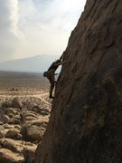 Rock Climbing Photo: Mike on  My little lab rat