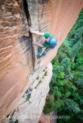 Rock Climbing Photo: Z Harrison on the start of the 3rd pitch  Photo - ...