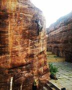 Rock Climbing Photo: Local climber and guide, Ganesha Waddar, climbing ...