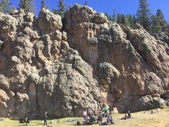 Rock Climbing Photo: Two routes are roped in this photo: Cattle Guard S...