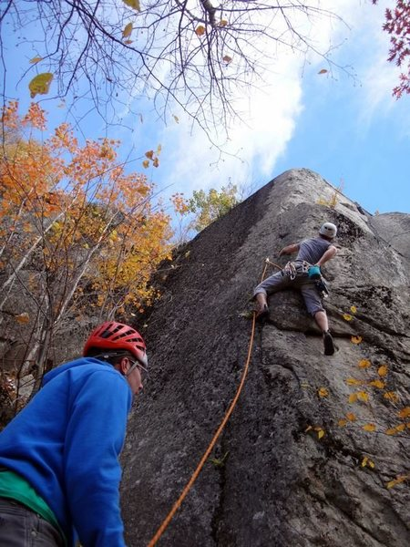 Rock Climbing Photo: James Puckett on Bemis, 5.10d
