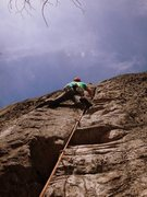Rock Climbing Photo: Chuck Drew on Ghost, 5.9+.