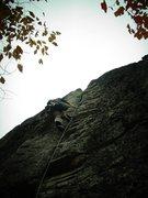 Rock Climbing Photo: Ben Smith cruising Ghost, 5.9+.