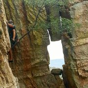 Rock Climbing Photo: Premium edging on this route!  Great climb!