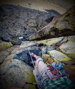 "Rock Climbing Photo: Top of route ""Savage Heart"" on Middle Ea..."