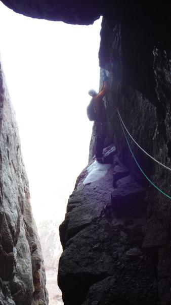 Rock Climbing Photo: P2 Blind Asumption, 10/30/2016.