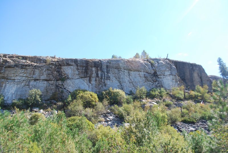 Rock Climbing Photo: Overview of Left and Center Foreplay