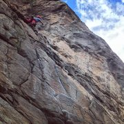 Rock Climbing Photo: Boulder Canyon ... free Willy 11a