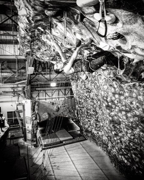 chelsea piers, training indoors<br> photography by daniel mizhiritsky