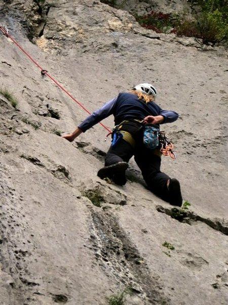 Rock Climbing Photo: Headin' to the chains on Motika