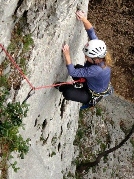 Rock Climbing Photo: Fun pockets on the lower part of Bijelo pranje