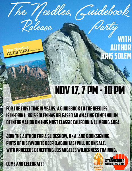 Slide show, Q&A, Book signings, Pints of Lagunitas IPA (proceeds from the ale go to Los Angeles Wilderness Training).