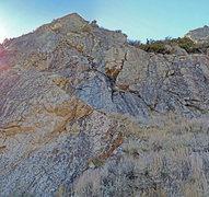 "Rock Climbing Photo: Miroir sector 8 at Silver Lake, below peak ""l..."