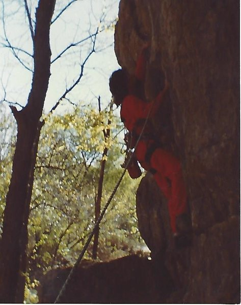 Rock Climbing Photo: Jung on Paperboy FA