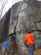 """Rock Climbing Photo: Examining the tall start of """"The Growth of th..."""